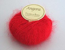 Angora wool, showing the halo effect
