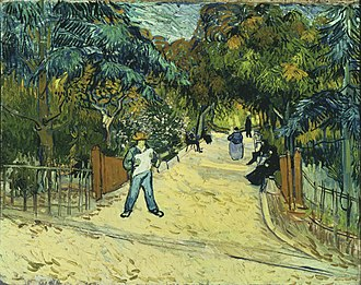 A Lane in the Public Garden at Arles - Image: Van Gogh Entrance to the Public Park in Arles