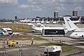 Various aircraft at LCY 2011.jpg