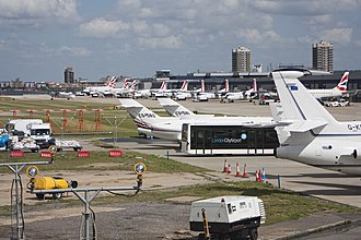 London City Airport - Apron view