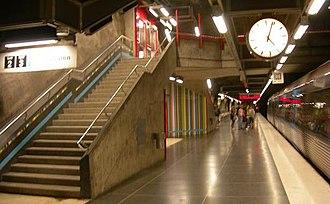 Västra skogen metro station - Image: Vastraskoogen