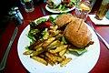 Veggie burger with fries at herbivore cc flickr user cameronparkins.jpg