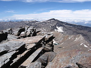 Penibaetic System - The Veleta summit seen from the Mulhacén
