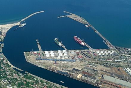 The Port of Ventspils is one of the busiest ports in the Baltic states. Ventspils osta.jpg