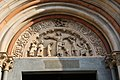 Vercelli, sant'andrea, esterno, facciata, seguace dell'antelami, crocifissione, 1220 ca. 02.jpg