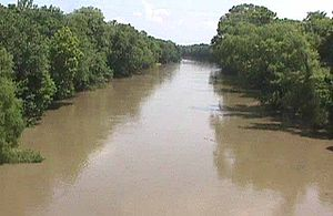 Verdigris River - The Verdigris River near Lenapah, Oklahoma