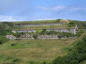 Verne Citadel - The battery at the southern entrance of the Verne