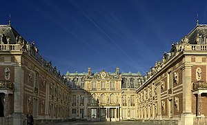 Versailles: Louis Le Vau opened up the interior court to create the expansive entrance cour d'honneur, later copied all over Europe.