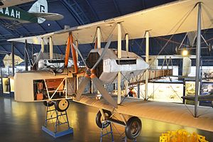 Rex Pierson - Vickers Vimy of Alcock and Brown, which landed at Clifden, at the Science Museum in June 2015