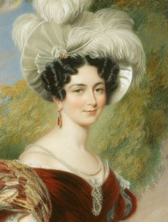 Princess Victoria of Saxe-Coburg-Saalfeld - The Duchess of Kent by Sir George Hayter in 1835