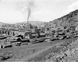 Victor, Colorado - Image: Victor, Colorado and the Gold Coin Mine c 1900