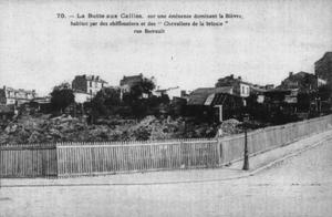 Butte-aux-Cailles - Old postcard showing the Butte-aux-Cailles