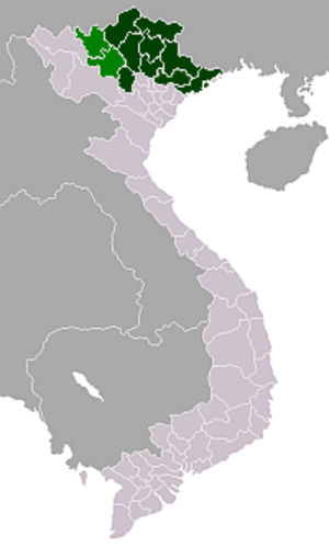 Operation Ceinture - Image: Vietnam Northeasternmap
