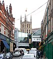 View along Park Street to Borough market and Southwark cathedral - geograph.org.uk - 1522139.jpg