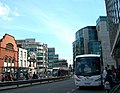 View eastwards along Store Street towards the Busaras Luas Stop - geograph.org.uk - 1456674.jpg