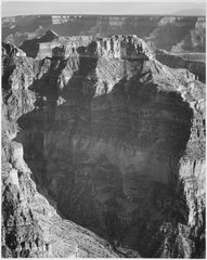 "View from ""North Rim, 1941, Grand Canyon National Park,"" Arizona. (vertical orientation), 1941 - NARA - 519901.tif"