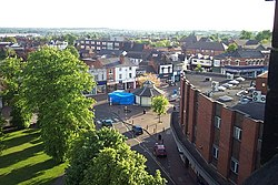 View of Cannock from top of St. Luke's Church Tower - geograph.org.uk - 178957.jpg