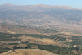 View of Tel Abel Beth Maacah (center of photo), looking east, with the Lebanese and Syrian Hermon massif in the background.png