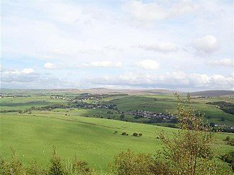 Cliviger - Image: View over Cliviger