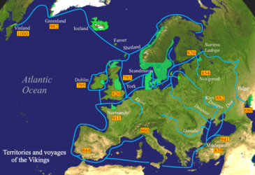 Scandinavian territories, colonies and voyages