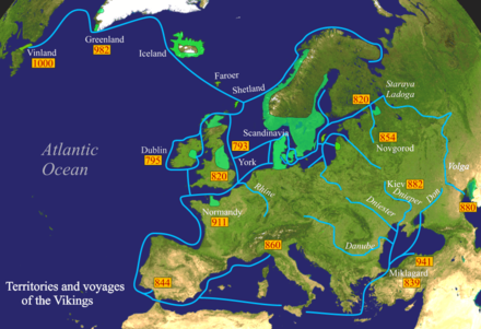 Scandinavian Viking expeditions (marked in blue) Vikings-Voyages.png
