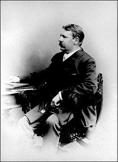 Viktor Rydberg omkring 1890.