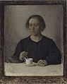Vilhelm Hammershøi - Ida Hammershøi, the Artist's Wife, with a Teacup - KMS3352 - Statens Museum for Kunst.jpg