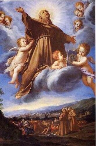 Vincenzo Dandini - Vincenzo Dandini, San Bernardino in Gloria, 1663