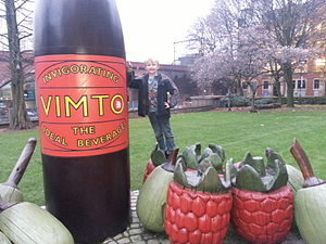 Vimto - Vimto monument Granby Row at The University of Manchester