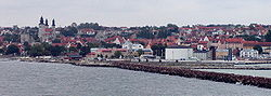 Visby waterfront as of 2003 (it has undergone major changes since)