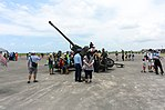 Visitors with Oerlikon GDF-006 35mm Twin Cannon at Gangshan AFB Apron 20170812a.jpg