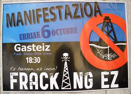 Poster against hydraulic fracturing in Vitoria-Gasteiz (Spain, 2012) Vitoria - fracking ez.jpg