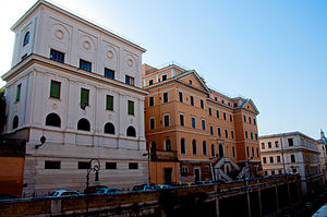 "Liceo scientifico statale Camillo Cavour - The two buildings: on the left side ""palazzina B"" and on the right side ""palazzina A"" (the oldest one)"