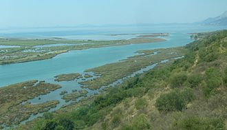 Channel (geography) - Vivari Channel in Albania links Lake Butrint with the Straits of Corfu.