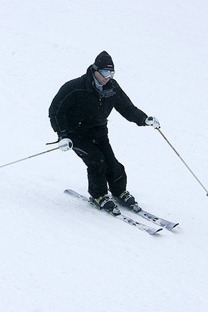 Krasnaya Polyana, Sochi, Krasnodar Krai - Vladimir Putin at the Krasnaya Polyana ski resort in 2008