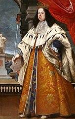 Portrait of Cosimo III de' Medici in grand ducal robes.