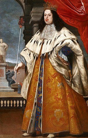 Cosimo III de' Medici, Grand Duke of Tuscany - Cosimo in granducal robes, with Tuscan regalia