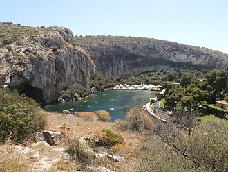 Vouliagmeni - View of the Lake Vouliagmeni