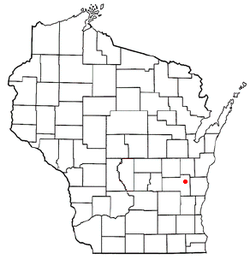 Location of Mount Calvary, Wisconsin