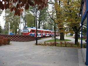 Warsaw Commuter Railway - PKP class EN94 EMU at Grodzisk Mazowiecki Radońska