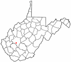 Location of Belle, West Virginia