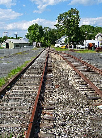 Wallkill Valley Railroad - The northern end of the remaining WVRR tracks, in Walden
