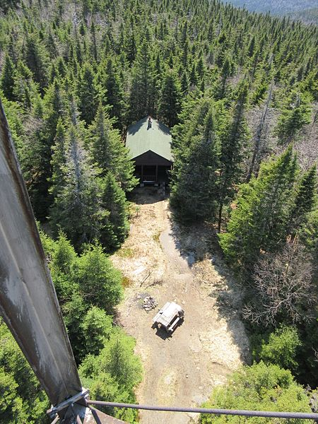 File:Wakely Mountain fire observers cabin taken from fire tower, Hamilton County NY.jpg