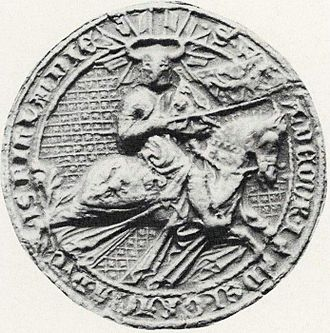 Ingeborg Eriksdottir of Norway - Seal of her husband, Valdemar, Duke of Finland.