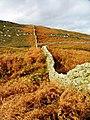 Wall, Climbing to Ben John - geograph.org.uk - 270381.jpg