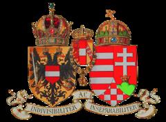 Hrvatski grb u manjem zajedničkom grbu Austro-Ugarske iz 1916.