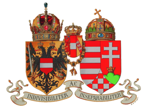 Coat of arms of Austria-Hungary - Image: Wappen Österreich Ungarn 1916 (Klein)