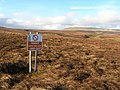 Warcop Range warning sign on Lune Head Moss - geograph.org.uk - 669524.jpg