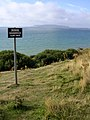 Warning sign above Furzy Cliff, Bowleaze - geograph.org.uk - 222683.jpg