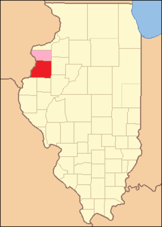 Warren County, Illinois - Image: Warren County Illinois 1831